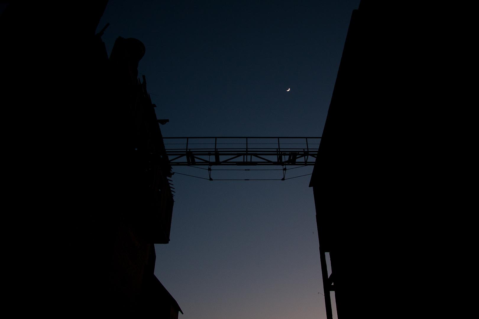 Silo by night